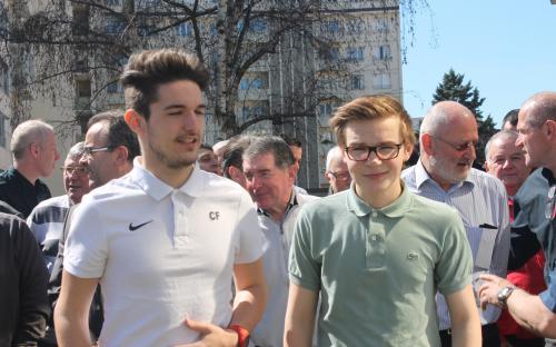 Nos deux plus jeunes adhérents : Corentin FOUGERARD et Sulyvan MANFROI
